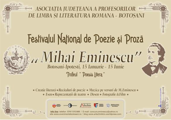 Mihai Eminescu - Festivalul National de Poezie si Proza.